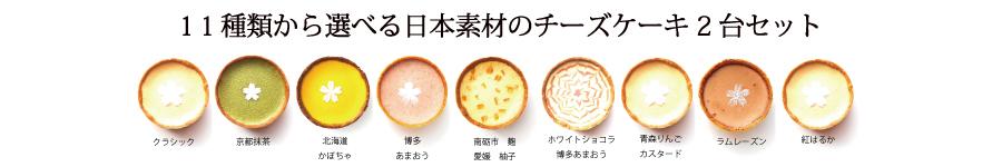 日本素材のチーズケーキ2台セット
