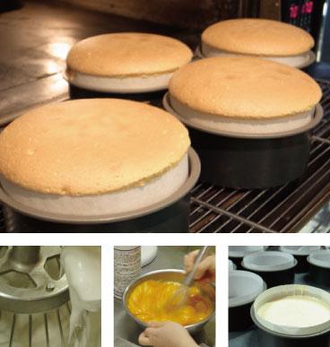 チーズケーキの製造過程
